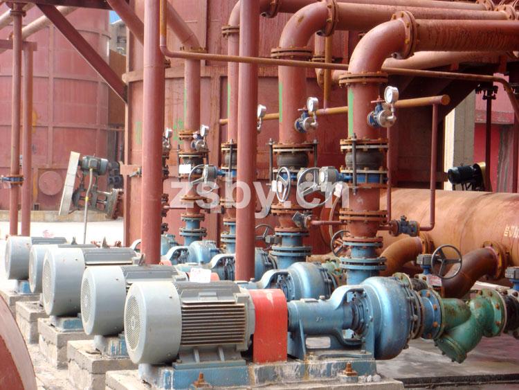 中天钢铁集团脱硫工程中使用宙斯泵业脱硫循环泵