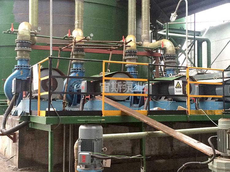 宙斯泵在铜陵旋力特钢脱硫工况中使用