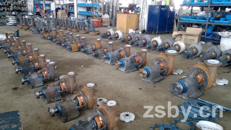 宙斯泵业安装车间常规泵组